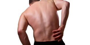 Back pain in the lumbar region on the right